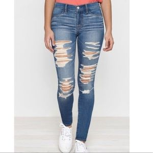 Pacsun full length ripped skinny jeans